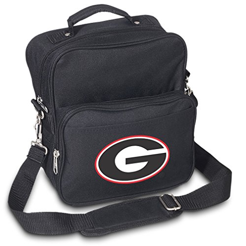 University of Georgia Travel Bag or Small Crossbody Day Pack Shoulder Bag by Broad Bay