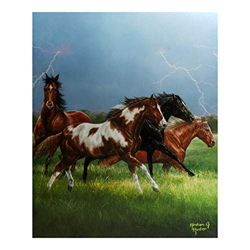 Penny Rose Back in The Saddle Horse Power Digital 36in Panel Fabric