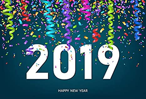 2019 happy new year photography backdrop yeele 10x65ft colorful ribbon confetti background picture