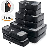 Travel Packing Cubes Set – 8 Luggage Packing Organizers – Compression Packing Cubes