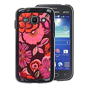 Planetar® ( Pattern Pink Fabric Dark Purple ) Samsung Galaxy Ace 3 / GT-S7270 / GT-S7275 Fundas Cover Cubre Hard Case Cover