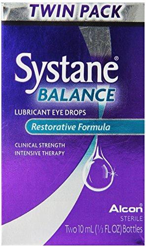 Gouttes oculaires lubrifiantes Systane balance, Formule réparatrice, deux 10 ml, 1/3 Fl.Ounce