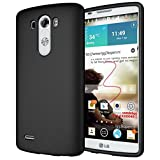 Diztronic Matte Back Black Flexible TPU Case for LG G3 (All Carriers), Retail Packaging