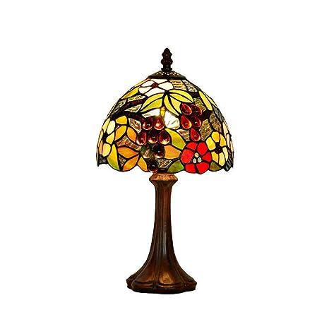 Amazon.com: Lámpara de mesa E12 estilo Tiffany, diseño de ...