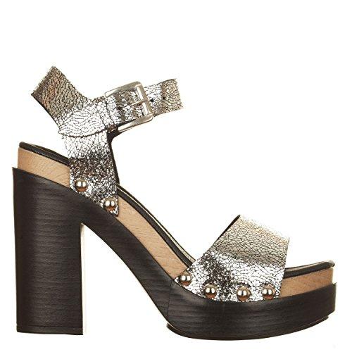 VialeScarpe Sas-7588rlmag_39 - Zapatos de cordones de Piel para mujer plateado plateado 39 plateado