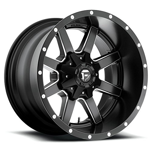FUEL Off-Road Wheels: Maverick (D538) - Matte Black Milled; 17x9 Wheel Size, 5x114.3 / 5x127 Lug Pattern. 78.1mm Hub Bore, 01mm Off ()