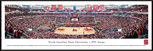 (North Carolina State Basketball - Blakeway Panoramas College Sports Posters with Standard Frame)