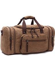 Leaper Extra Large Canvas Travel Tote Duffel Gym Bag Weekender Shoulder Handbag