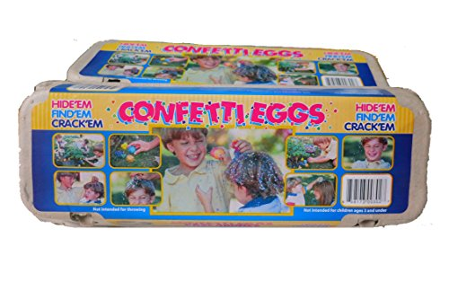 Eggs Confetti Easter (Confetti Eggs (Cascarones) - 1 Dozen (Colors Vary))