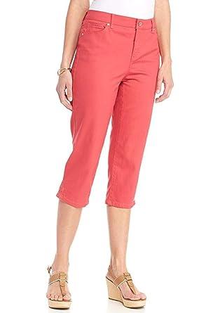 535fa079b55 Gloria Vanderbilt Women's Jordyn Embellished Capris at Amazon Women's  Clothing store: