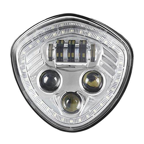 ZHUOYUE 1Pcs Led Headlight With White Halo Angel Eye DRL LED Headlamp For...
