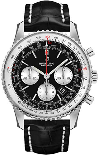 Breitling Navitimer 1 B01 Chronograph 43 Black Dial Men's Watch AB0121211B1P1