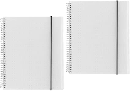 Shulaner A4 Cuaderno puntos espiral, dotted grid Notebook, 160 ...