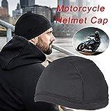 iBaste Motorcycle Helmet Inner Cap, Quick Dry Breathable Hat Bicycle Racing Cap Under Helmet Beanie Cap for Helmet (Black