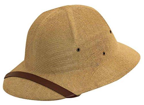 Dorfman Pacific Co. Men's Fine Twisted Toyo Pith Helmet, Tan, One Size (Pith Helmet)
