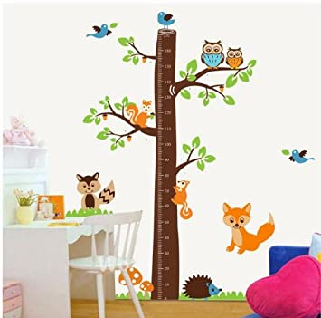 Giant Jungle Animals Nursery Wall Decal For Boys N Girls Room Removable  Forest Tree Kids Growing Part 51