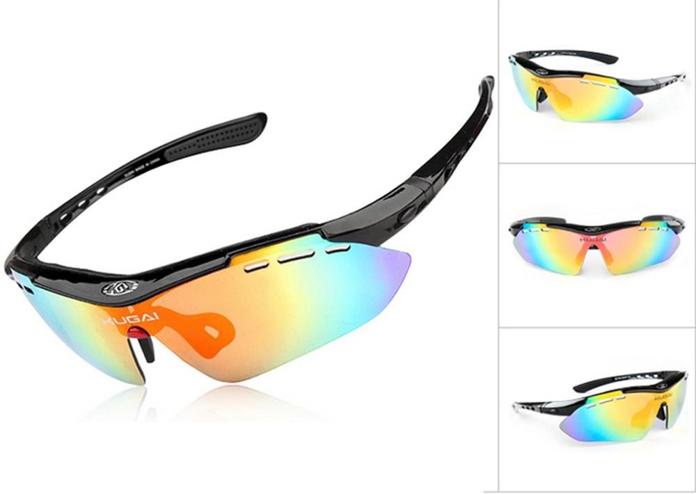 DZW Radfahren Brille Outdoor Brille Kurzsichtigkeit Brille Sport Mountain Bike winddichten Brille , schwarz polarized