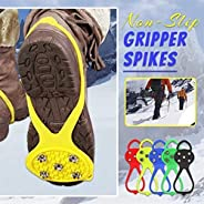 AFGQIANG Universal Non-Slip Gripper Spikes︱Grippers Spikes Anti-Slip Over Shoe︱Durable Cleats with Good Elasti