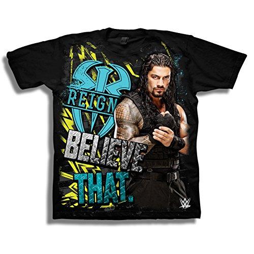 WWE Little Boys' Superstars Short-Sleeve T-Shirt,Black, L-7]()