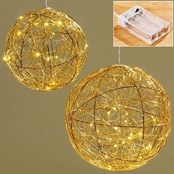 Bg Draht Led Kugel Gold D 20 25cm Auswahl Gross D 25cm Amazon De