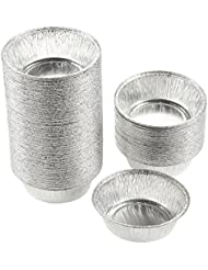 Juvale Aluminum Foil Pie Pans - 100-Piece Round Disposable Baking Tin Pans Cake, Quiche Tarts, 4.9 x 1.5 x 4.9 Inches