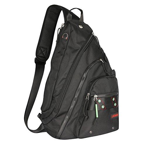 Sling Backpack, Sling Bag for Laptop, Crossbody Bag for Men, Larswon Shoulder Bag for Women, Laptop Backpack, Backpack - For Sling Backpacks Men