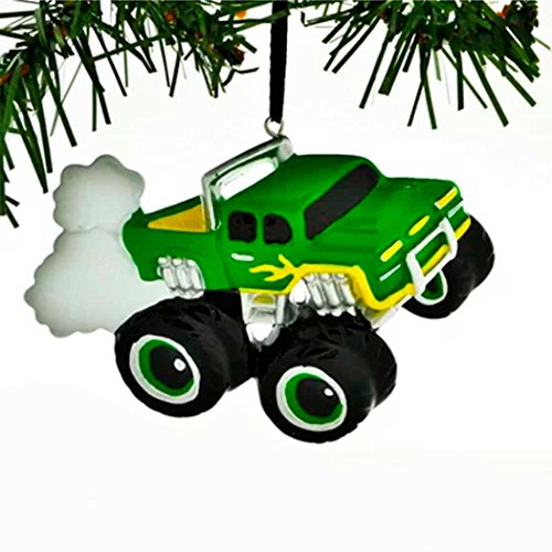 Personalized General Monster Truck Christmas Tree Ornament 2019 - Green Mighty Pickup Vehicle Machine Large Tires Field Trailer Boy Holiday Toy Jam SUV Horsepower Gift Year - Free -