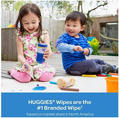 512UNfqAMKL. AC - Huggies Simply Clean Unscented Baby Wipes, 11 Flip-Top Packs (704 Wipes Total)