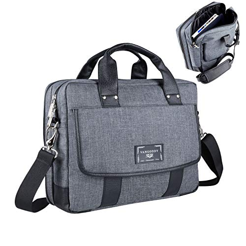 16-17.3 Inch Durable Twill Vegan Messenger Bag Laptop Crossbody Shoulder Bag Waterproof Carrying Handbag Briefcase for Laptop Ultrabook MacBook Chromebook HP Acer Asus Lenovo Dell Razer MSI