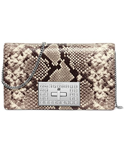 Michael Kors Womens Leather Python Embossed Shoulder Handbag Multi Small