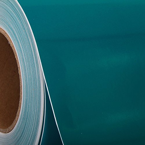 """Threadart Teal Self Adhesive Sign and Hobby Vinyl Film By the Yard 24"""" Wide - Available in over 20 colors"""