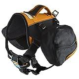 Kurgo Big Baxter(TM) Dog Backpack, Black/Orange