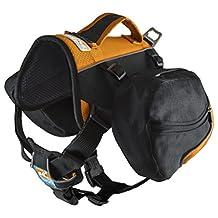 Kurgo Baxter(TM) Dog Backpack, Black/Orange