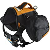 Kurgo Baxter Dog Backpack, Black/Orange - Lifetime Warranty