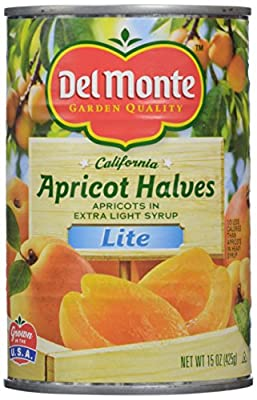 Del Monte Lite Unpeeled Apricot Halves in Extra Light Syrup - 15 oz
