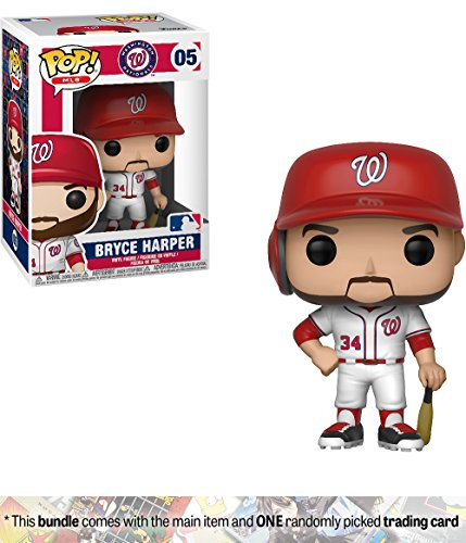 Funko Bryce Harper [Washington Nationals]: x POP! MLB Vinyl Figure + 1 Official MLB Trading Card Bundle [#005 / 30221] by Funko