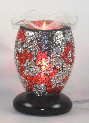 ELECTRIC TART BURNER, OIL WARMER, AROMA LAMP ELECTRIC RED MOSAIC DIMMER SWITCH