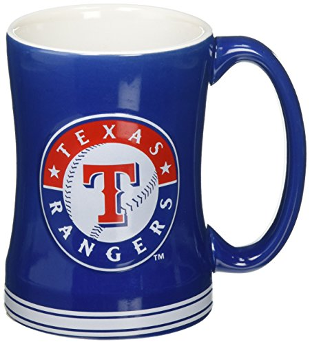MLB Texas Rangers Sculpted Relief Mug, 14-ounce