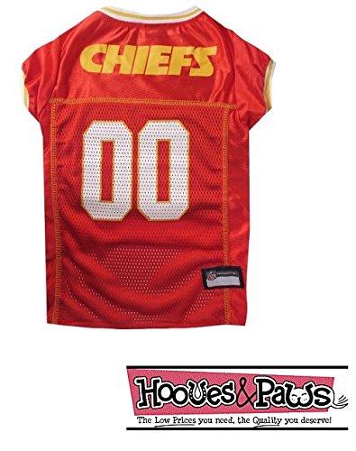 Pets First Kansas City Chiefs Dog Mesh Jersey Licensed NFL (Medium)