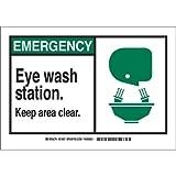 Brady 122612, Eye Wash Station Keep Clear, (Pack of 15 pcs)