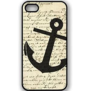 Angel Wings fashion Sailor Anchor vintage Hard back case cover For Apple iphone 4G 4S 4 (I)