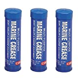 New (Set of 3) Professional Ultra 3 Oz.-each Marine Grease Lubricant Superior Water Resistance Great for anti-friction blocks boat trailer bearings deck marine equipment shaft cables more
