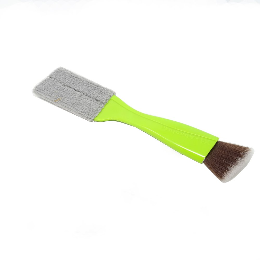 yueton Double Ended Portable Cleaning Brush Mini Hand Held Magic Brush Duster for House, Car, Office, Light Green AX-AY-ABHI-108929