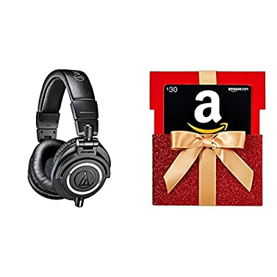 Audio-Technica ATH-M50x Professional Monitor Headphones with $30 Amazon.com Gift Card by audio-technica