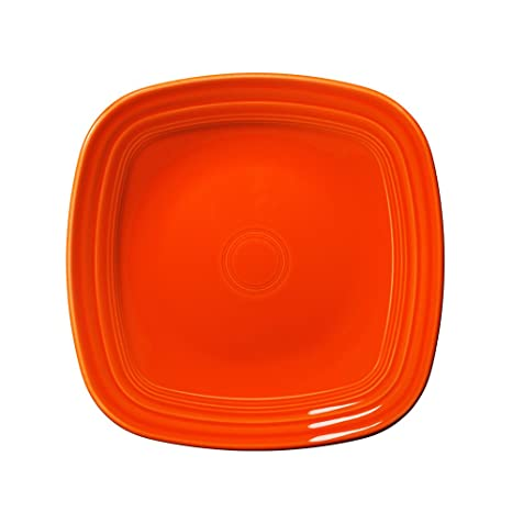 Amazon.com | Fiesta Square Dinner Plate, 10-3/4-Inch, Poppy: Dinner ...