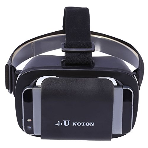 3D VR Glasses for 4.7 - 6 inch Smart Phone - NOTON Lightweight Virtual Reality 3D VR Glasses for 4.7 - 6 inch Smart Phone 95 Degrees View of Field,Black