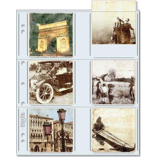 Print File 33-12P Archival Storage Page for 12 3.5'' x 3.5'' Prints, 100-Pack by Print File