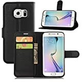 Urberry S7 Luxury Wallet Case, Stand Portable TPU Wallet Case for Samsung Galaxy S7 with a Phone Bracket (Black)