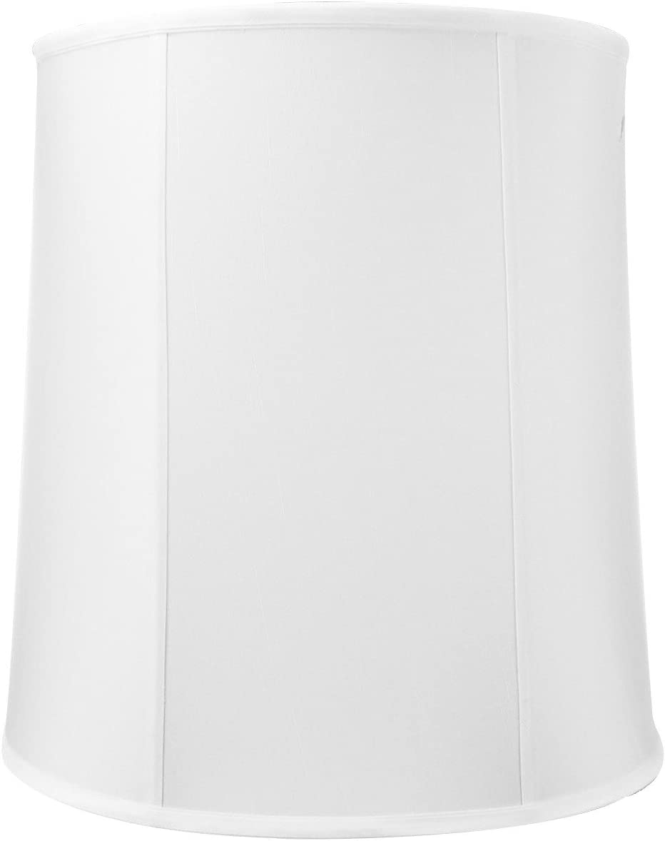 HomeConcept 141617DRWH Drum Shantung Lampshade, 14 x 16 x 17 , White