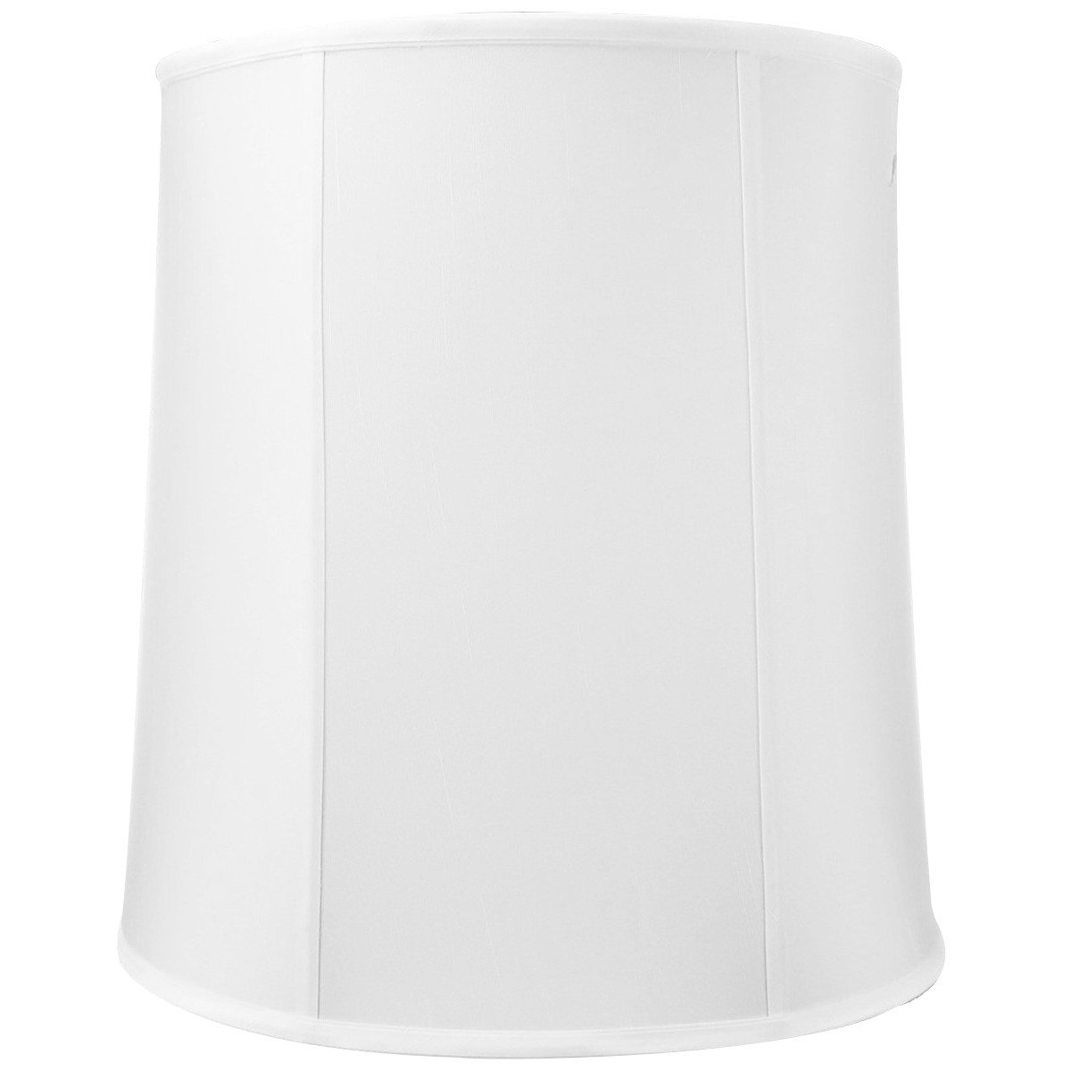 14x16x17 White Drum Shantung Lampshade with Brass Spider Fitter - Perfect for Table and Desk Lamps - Large, White